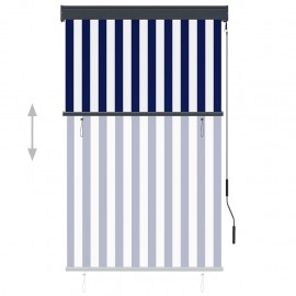 External roller blind 100 x 250 cm blue and white