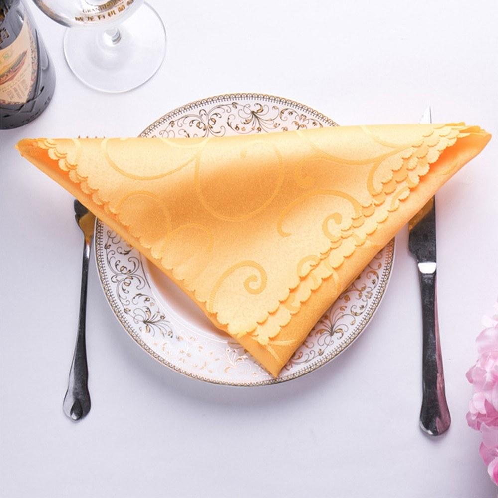 High-grade jacquard table napkin hotel western restaurant wedding European napkin placemat bar wipe cup handkerchief cloth