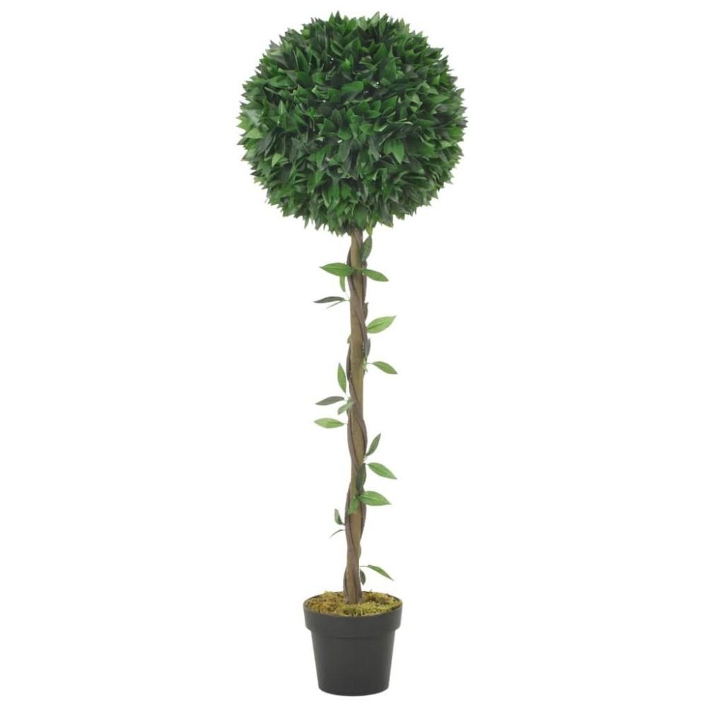 Artificial plant laurel tree with pot green 130 cm