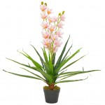 Artificial orchid with pot pink 90 cm