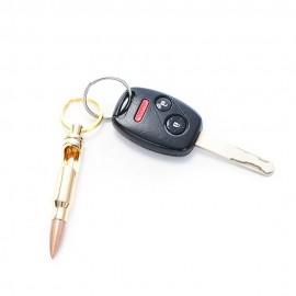Factory direct zinc alloy bullet opener key ring pendant bullet model personality key chain wholesale Rose