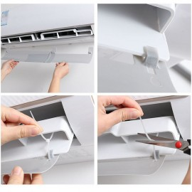 Adjustable Portable Air Conditioner Wind Shield Cold Wind Gas Deflectors Anti Direct Blowing Retractable Baffle Clip Type Stretchable