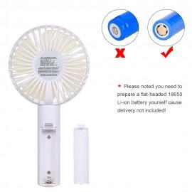 homgeek Mini Handheld Fan Cooling Electric Fan Personal Fan Portable Desk Fan with Base 3 Speed Adjustable USB Rechargeable for Travel Office Household Use