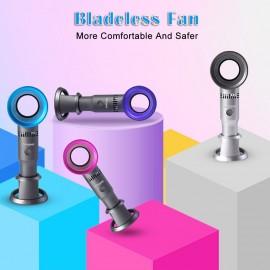 Homgeek Bladeless Fan Portable Fan Hand-Held Fan Cute Appearance 3 Speed Adjustable USB Rechargeable Fan