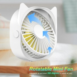 300mL Desktop Air Cooler Air Conditioner Fan Small Personal USB Desk Fan Air Cooler 3 Speeds Cooling Fan for Home Room Office