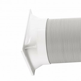 5.9Inch Window Adaptor Exhaust Duct Hose Connector for Portable Air Conditioner Square(C/H Series)