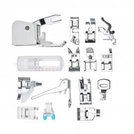 15pcs Professional Sewing Machine Presser Walking Feet Kit Compatible Set for Low Shank Sewing Machine(For Brother/Babylock/New Home/Singer/Pfaff/Janome/Kenmore etc.)
